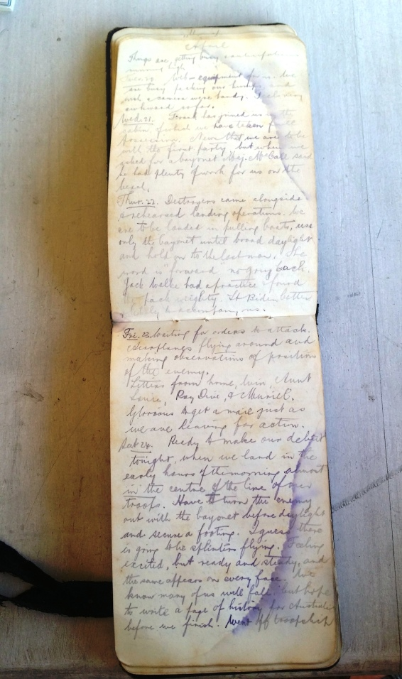 Diary Original 24th April 1915